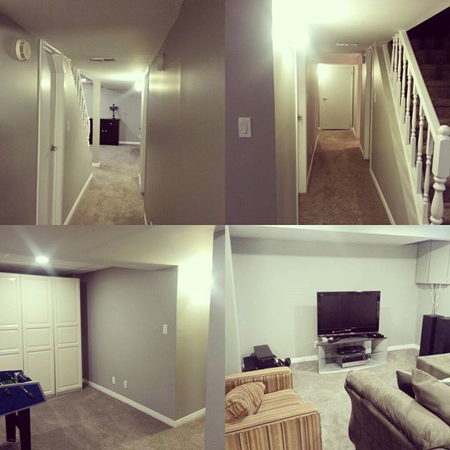Fantastic job in Beautiful Linden Woods. Using top of the line Dulux paints and Alexandria baseboards for maximum durability.  The basement is ready to host a Grey Cup party or one heck of a nerf war :)