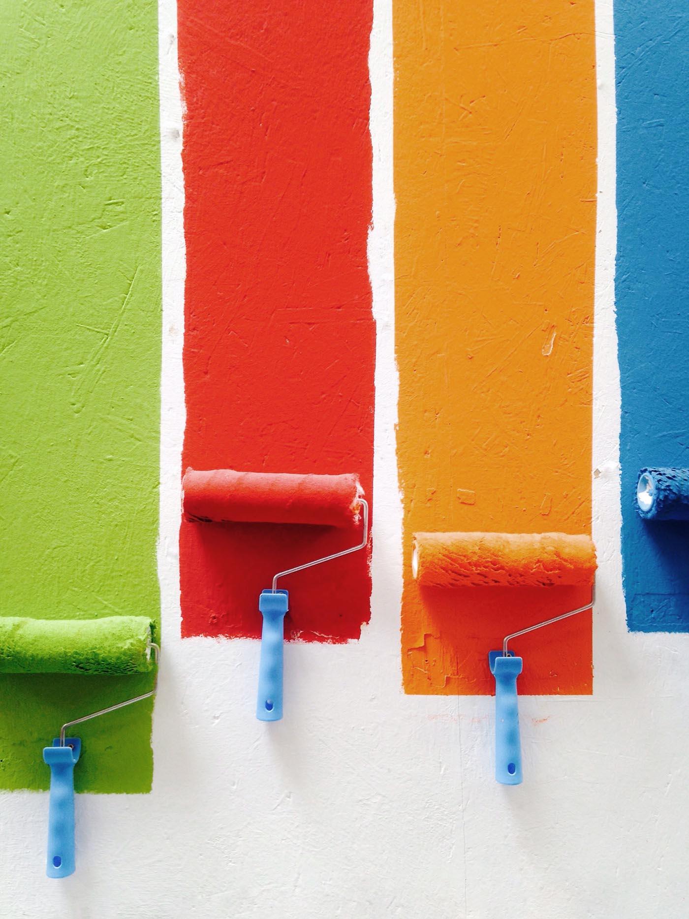 paint colour selection swatches